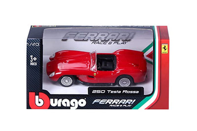 Bburago 1:43 scale Ferrari Race & Play 250 Testa Rossa Car - Accessories - Red