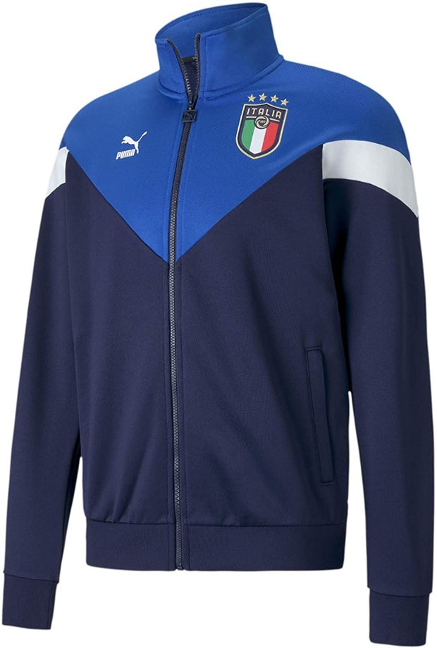 FIGC Puma Italia Football Federation Iconic Mcs Track Jacket - Men - Blue