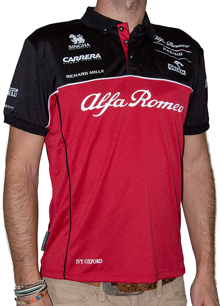Alfa Romeo Racing ORLEN F1™ Team Technical Replica Polo Shirt- Men - Burgundy Red