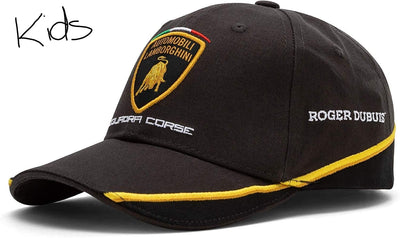 Automobili Lamborghini Squadra Corse Cap Gold Edition - Kids - Black - FanaBox