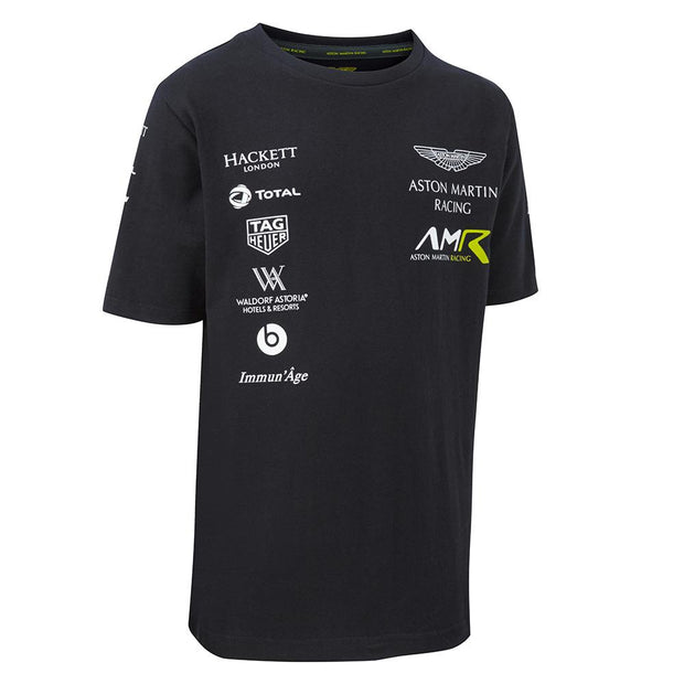 Aston Martin Racing Team Sponsor T-Shirt  - Men - Navy Blue