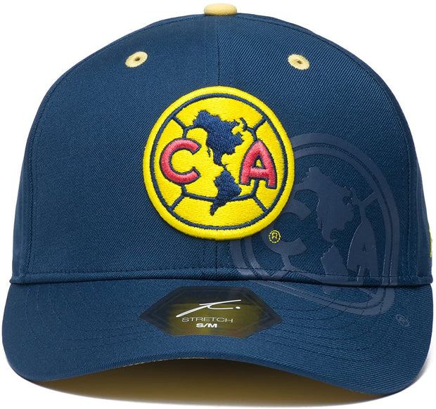 Club America Team Color Stretch Fullback Curved Bill Soccer cap