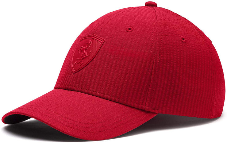 Puma Scuderia Ferrari Striped LS Baseball Cap - Men - Red