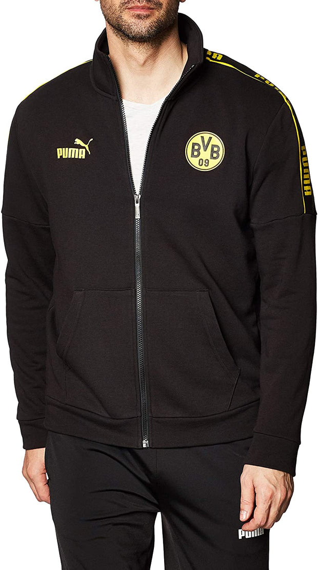 Puma BVB Borussia Dortmund Soccer Club Track Jacket - Black - Men