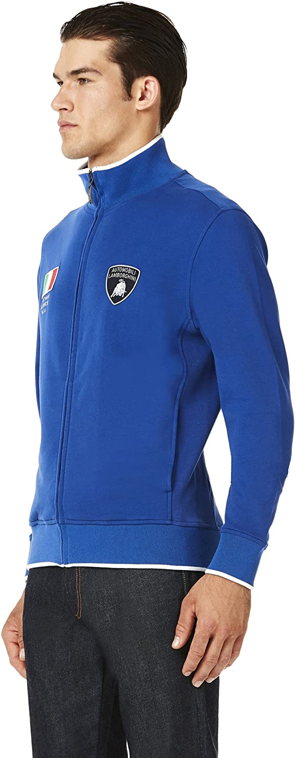 Lamborghini Full-Zip Italy Flag Sweatshirt - Men - Blue