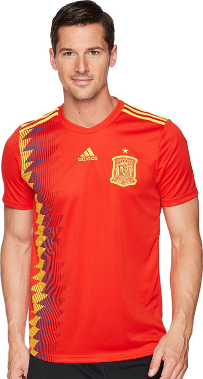 Adidas FC Spain Replica Home Jersey - Men - Red and Bold Gold