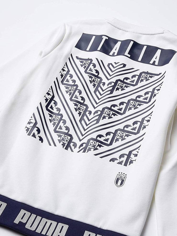 FIGC Puma Italia Sweater Culture Crew - Men - White