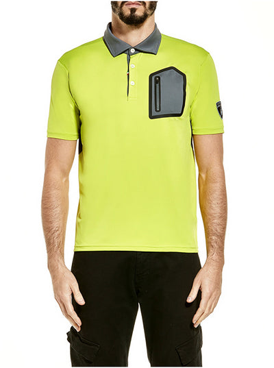 Lamborghini Techno  Dri-Fit Polo - Men - Lime Green - FanaBox