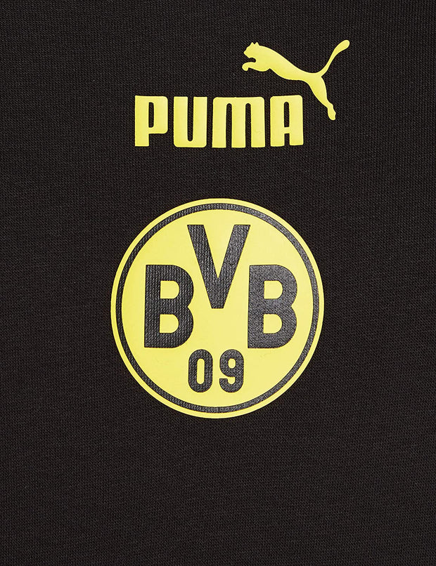 2020 2021 Puma BVB Borussia Dortmund Football culture Hooded Sweatshirt  - Men - Black