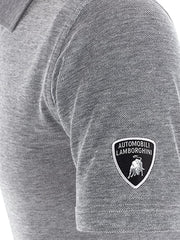 Lamborghini SS Oxford Polo - Men - Grey