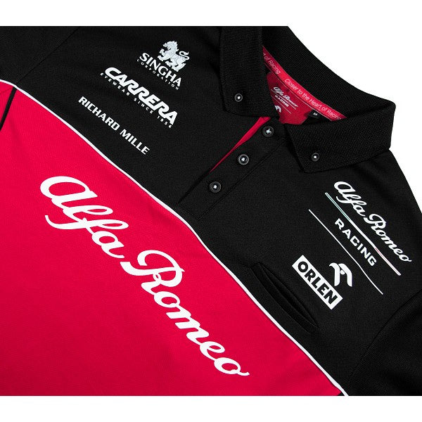 Alfa Romeo Racing Technical Replica Polo Shirt 2020 - Men - Burgundy Red