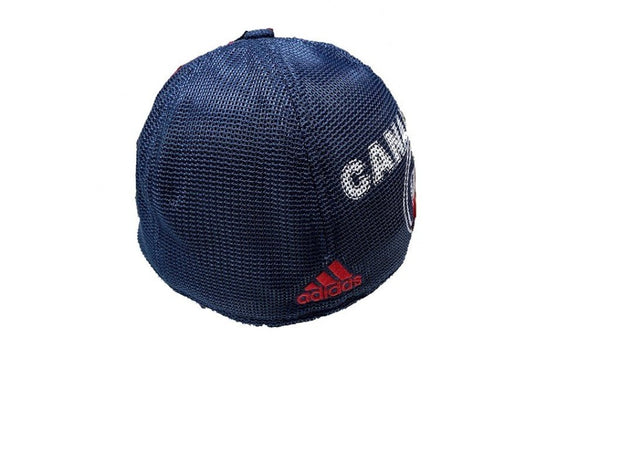 Adidas Montreal Canadiens Hockey Team Baseball closed back meshed blue hat men