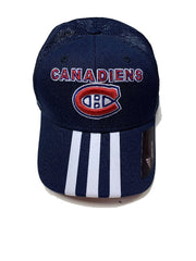 Montreal Canadiens hockey team Adidas Three Stripes Baseball meshed fitted cap