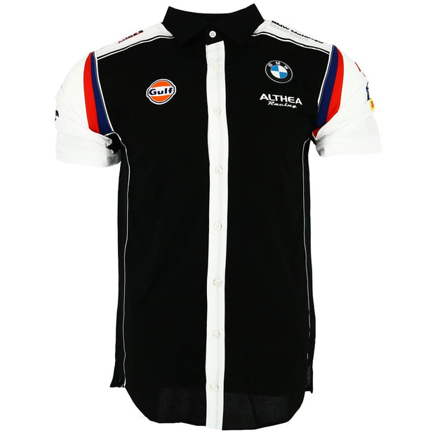 Gulf Althea BMW Motorsport Team Button Up Shirt - Men - Black - FanaBox