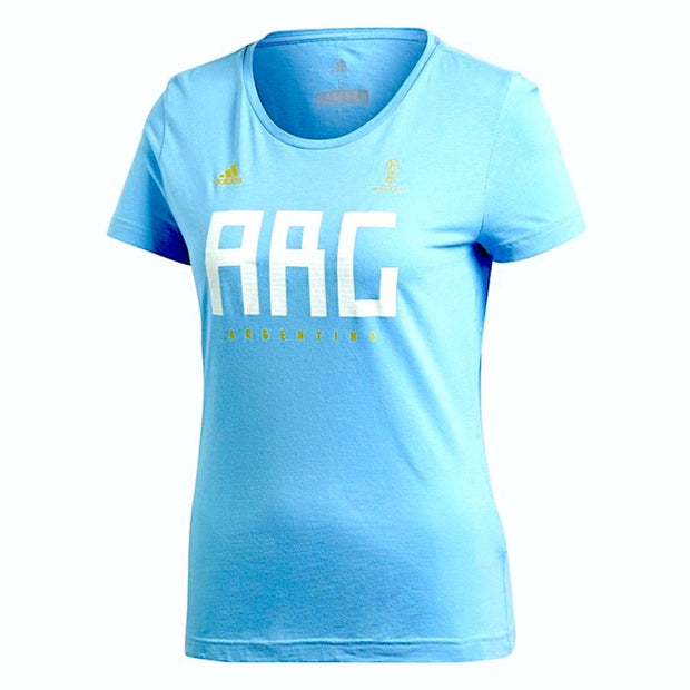 2018 FIFA World Cup Russia Adidas Argentina tee - women - FanaBox