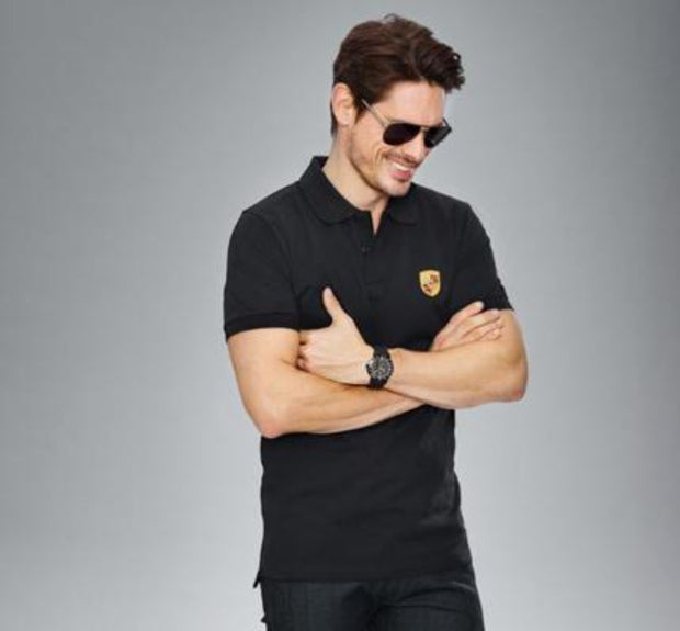 Porsche Design Crest Classic Polo - Men - Black