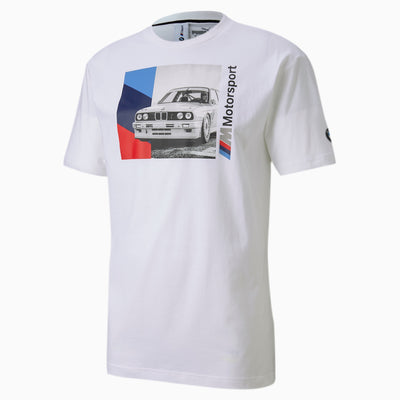 BMW M Motorsport Men's Graphic T-Shirt - White