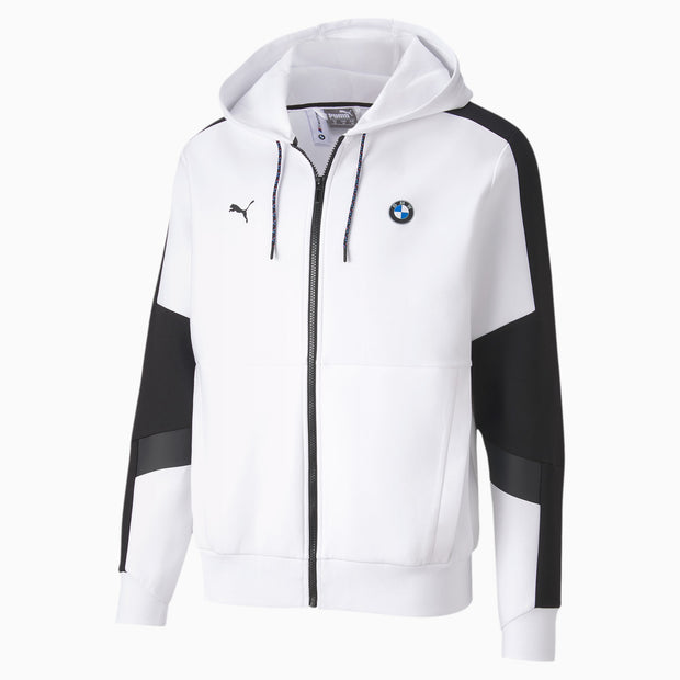 BMW M Motorsport Men's Hooded - Sweat Jacket - White