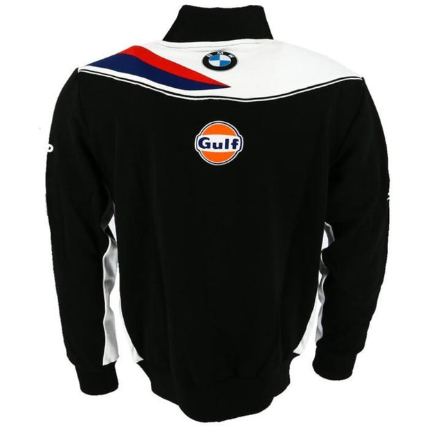 Gulf Althea BMW Motorsport Full Zip Sweatshirt - Men - Black - FanaBox