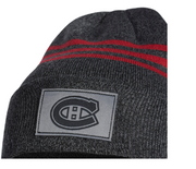 Adidas Montreal Canadiens Cuffed Beanie - Grey and Red