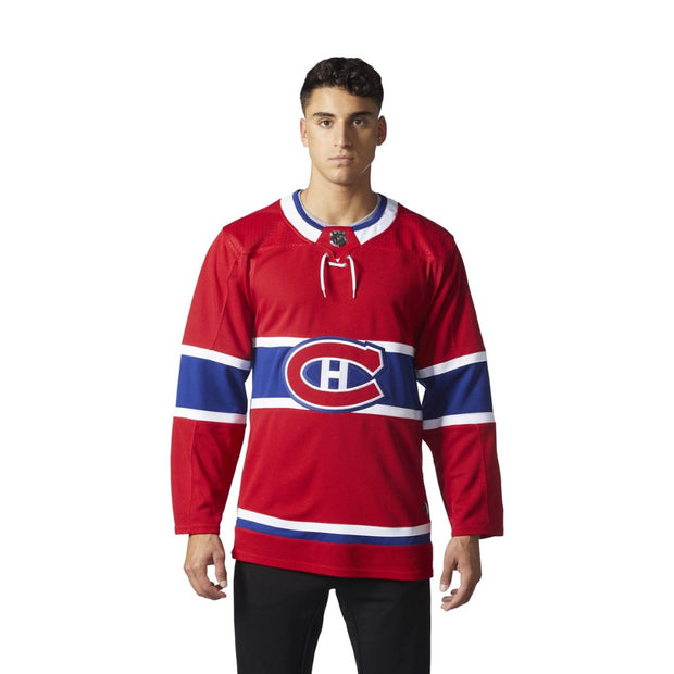 Montreal Canadiens Adidas Authentic Pro Home Jersey  - Men - Red