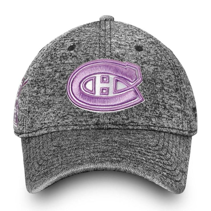 Fanatics Montreal Canadiens Hockey Fights Cancer Flex Cap - Womens - Grey-Pink