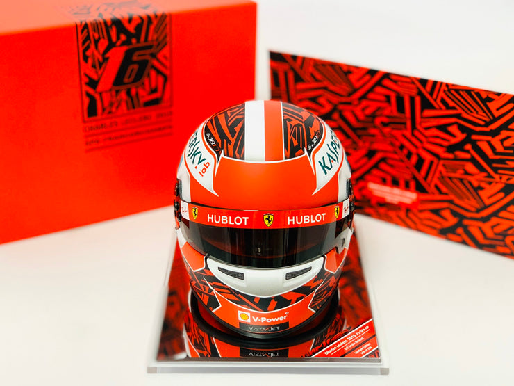 Scuderia Ferrari F1 Driver Charles Leclerc Bell Racing Spa Grand Prix Deluxe Limited edition 1:2 scale mini genuine limited edition helmet
