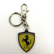 Ferrari Logo Shield Metallic Keychain - Accessories - Yellow