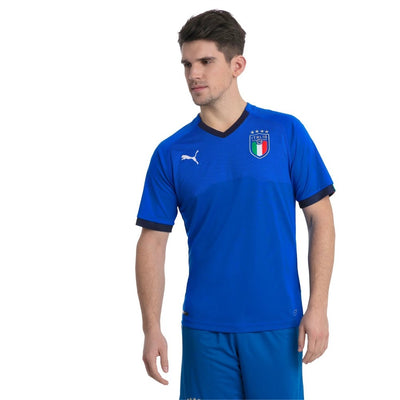 PUMA Mens FIGC Italian Football Federation Replica Home Football Jersey - Men - Blue Peacoat