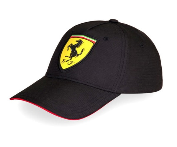 Scuderia Ferrari Oversized Logo Carbon Fibre Cap - Men - Black - FanaBox