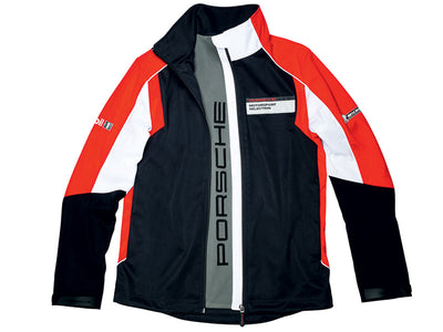 Porsche Driver Selection Motorsport Collection Softshell Jacket - Men - Black and Red - FanaBox