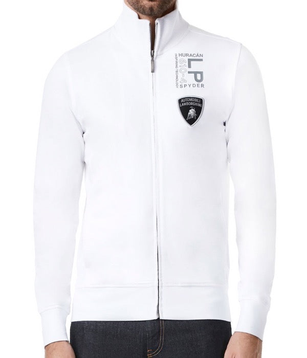Automobili Lamborghini Huracan Spyder LP610-4 Sweatshirt - Men - White - FanaBox