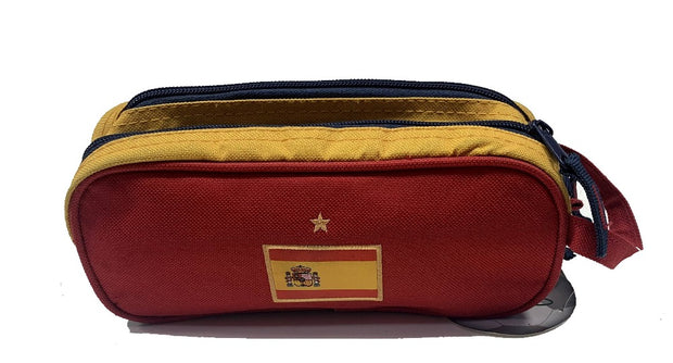 Spain Soccer Pencil Case for Kids Stationary - Accessories - Red and Yellow