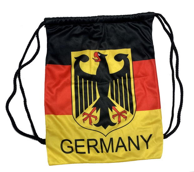 Germany Eagle Sport Pack Drawstring Bag  - Accessories - Black, Red and Yellow