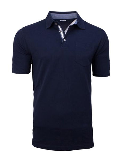 Lamborghini Short sleeve polo shirt - Men - Navy Blue - FanaBox
