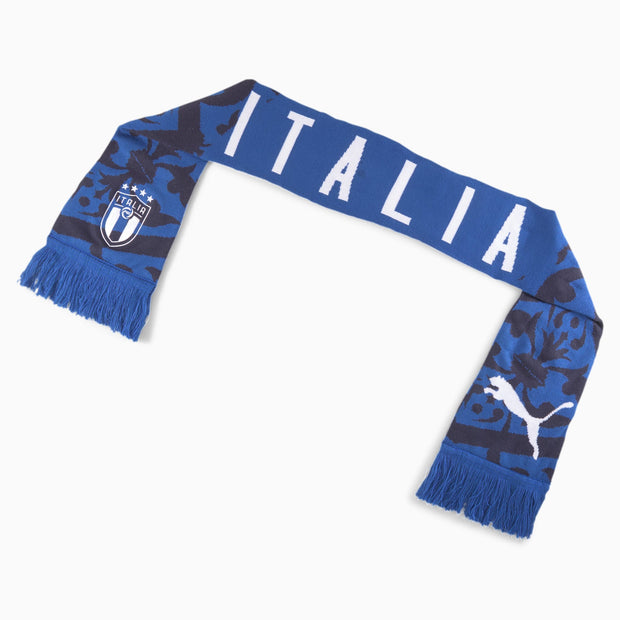 Puma FIGC Italia Soccer Official Fan Scarf - Accessories - Team Power Blue-Peacoat