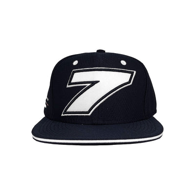 Officially Licensed Kimi Raikkonen Iceman Alfa Romeo Racing flat brim number 7 cap blue Men