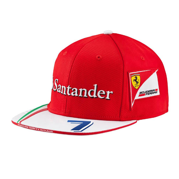Kimi Raikkonen Scuderia Ferrari Puma Flat Brim cap - Men - Red and White - FanaBox