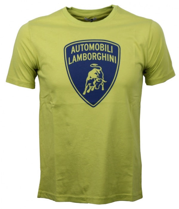 Lamborghini Big Shield Print T-Shirt - Men - Lime - FanaBox