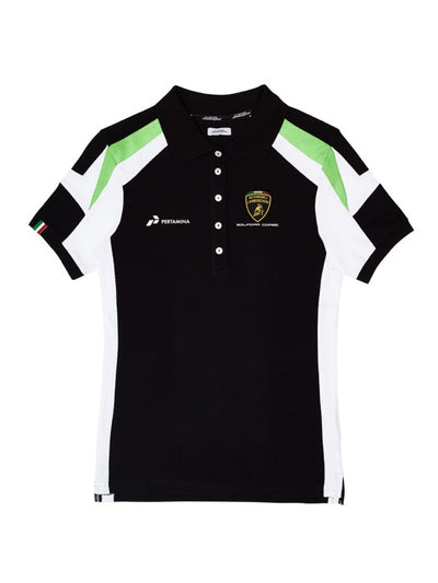 Lamborghini Squadra Corse Polo - Women - Black - FanaBox