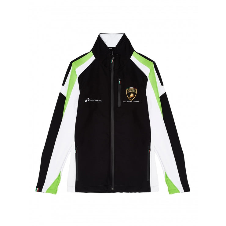 Lamborghini Squadra Corse Softshell Jacket - Men - Black - FanaBox