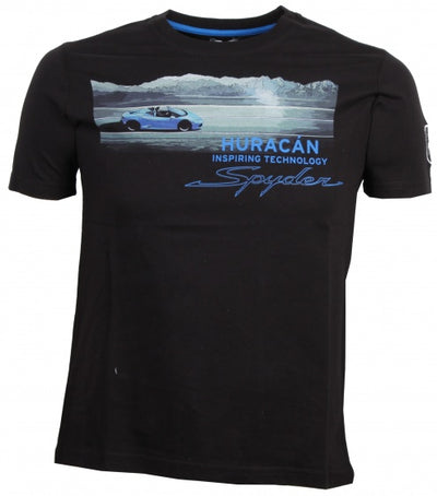 Lamborghini Huracan Spyder T-Shirt - Men - Black - FanaBox