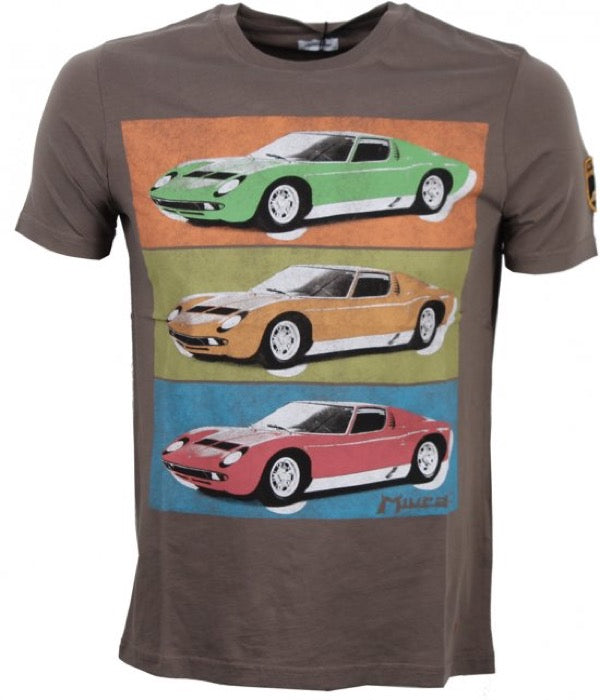 Lamborghini Pop Miura T-Shirt - Men - Mud - FanaBox