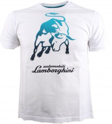 Lamborghini SS Big Bull T-Shirt - Men - White - FanaBox