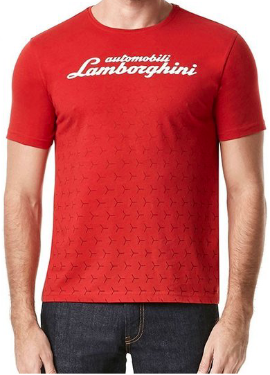Lamborghini Y Patterned T-shirt - Men - Deep Red - FanaBox