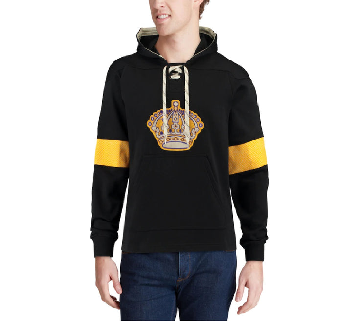 Los Angeles Kings Jersey Lace-Up Pullover -Black-Men