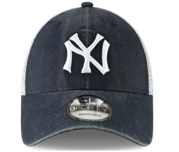 Men's New York Yankees New Era Navy 9FORTY Adjustable Hat - Men - Blue