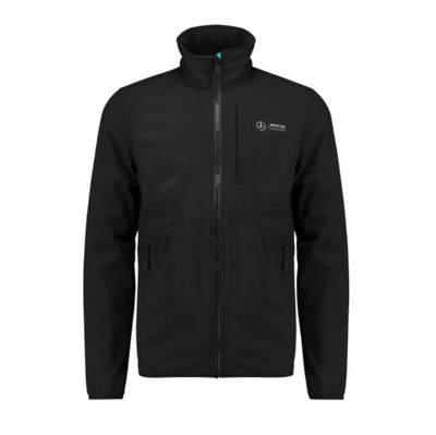 2019 Mercedes AMG Petronas Motorsport Softshell Jacket - Men - Black - FanaBox