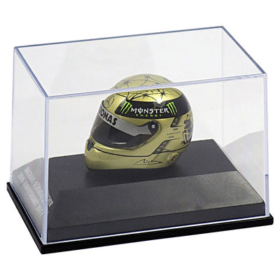 Michael Schumacher 20th Anniversary 1:8 Miniature Replica Helmet - Accessories - Gold - FanaBox