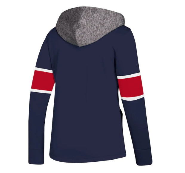 Montreal Canadiens Adidas Crewdie Pullover Hoddie - Women - Blue Navy Back